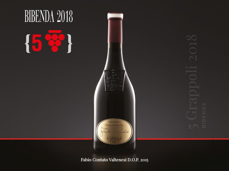 Cinque Grappoli to the red wine Fabio Contato Valtenesi D.O.P. 2015