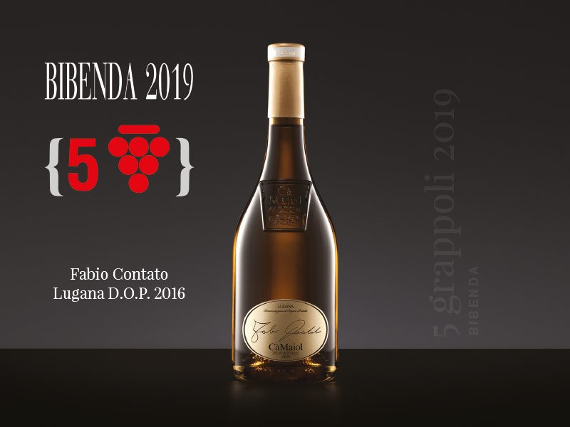 Our Lugana Fabio Contato has been awarded with a new prize: the prestigious 3 Grappoli for the historic guide Bibenda 2018