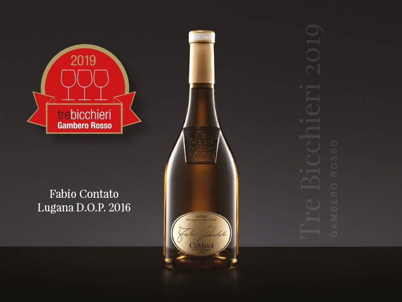 "Our Lugana Fabio Contato has been awarded with the Tre Bicchieri, the prestigious prize included in the guide ""Vini d'Italia 2019"" by Gambero Rosso"